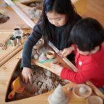 木育に焦点をあてた木でつくる新しい室内遊具/帝国器材「SUNABAKO」